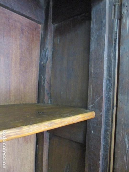 Antigüedades: Antiguo Armario Rústico - Alacena - Mueble Español - Madera de Roble - S. XVII - Foto 26 - 139262390