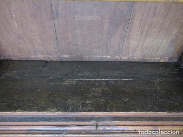 Antigüedades: Antiguo Armario Rústico - Alacena - Mueble Español - Madera de Roble - S. XVII - Foto 28 - 139262390