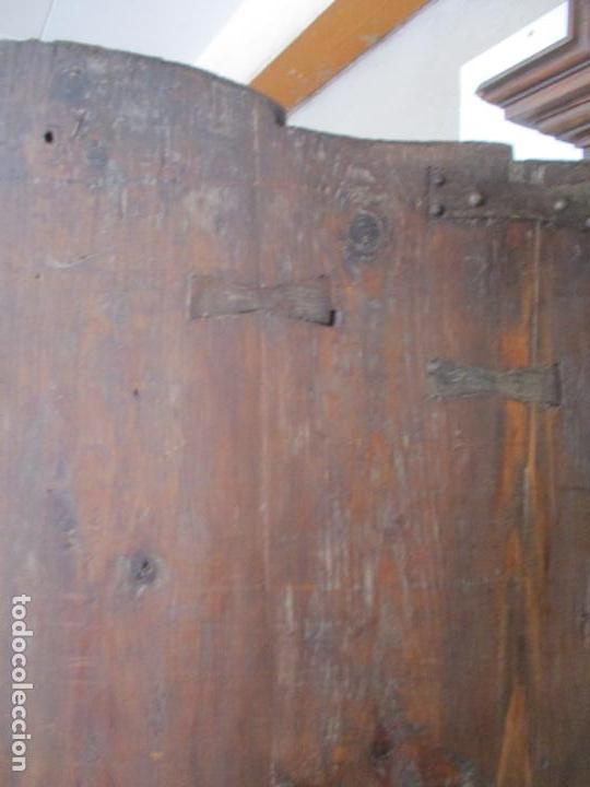 Antigüedades: Antiguo Armario Rústico - Alacena - Mueble Español - Madera de Roble - S. XVII - Foto 29 - 139262390