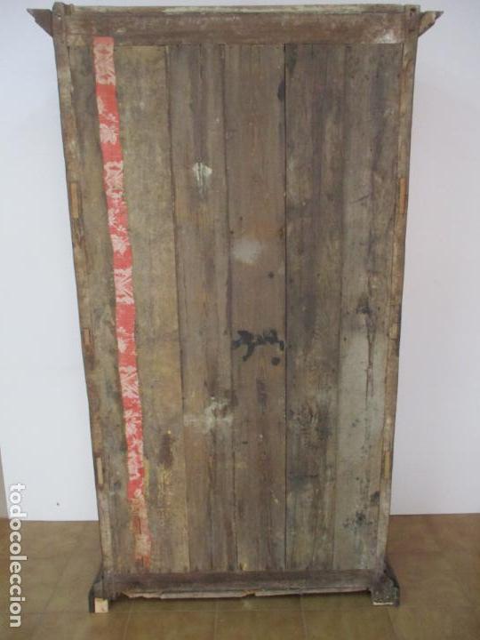 Antigüedades: Antiguo Armario Rústico - Alacena - Mueble Español - Madera de Roble - S. XVII - Foto 34 - 139262390