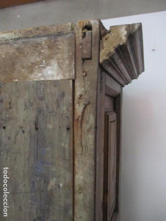 Antigüedades: Antiguo Armario Rústico - Alacena - Mueble Español - Madera de Roble - S. XVII - Foto 36 - 139262390
