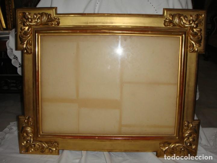 Antigüedades: Magnífico marco antiguo. S.XIX. Madera, estuco y pan de oro. - Foto 2 - 139295026
