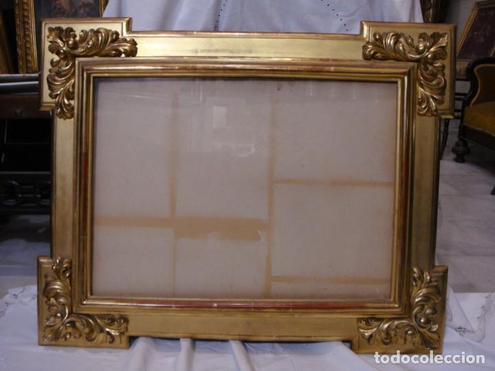 Antigüedades: Magnífico marco antiguo. S.XIX. Madera, estuco y pan de oro. - Foto 3 - 139295026