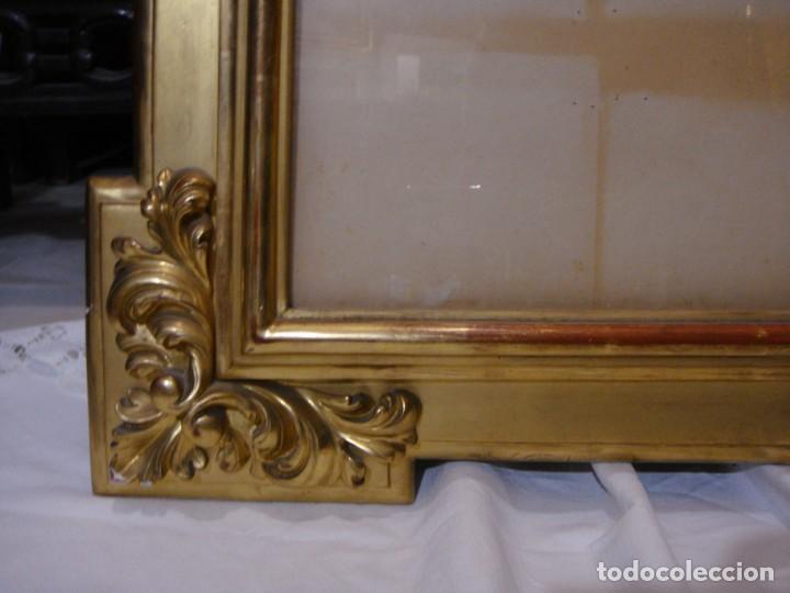 Antigüedades: Magnífico marco antiguo. S.XIX. Madera, estuco y pan de oro. - Foto 4 - 139295026