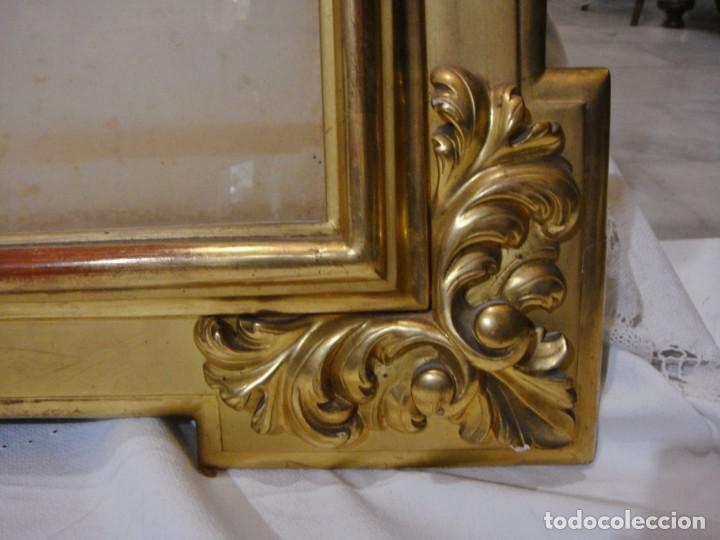Antigüedades: Magnífico marco antiguo. S.XIX. Madera, estuco y pan de oro. - Foto 5 - 139295026