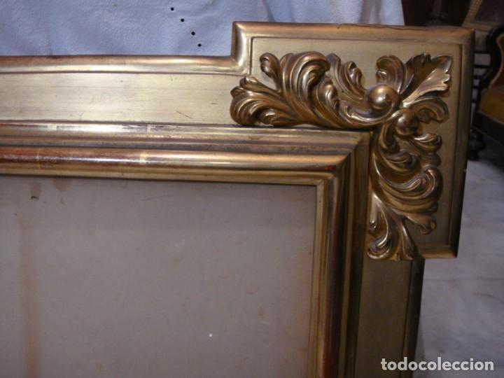 Antigüedades: Magnífico marco antiguo. S.XIX. Madera, estuco y pan de oro. - Foto 6 - 139295026