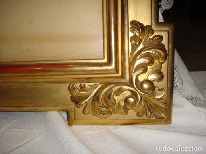 Antigüedades: Magnífico marco antiguo. S.XIX. Madera, estuco y pan de oro. - Foto 7 - 139295026