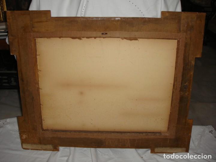 Antigüedades: Magnífico marco antiguo. S.XIX. Madera, estuco y pan de oro. - Foto 8 - 139295026
