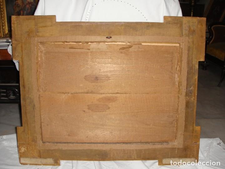 Antigüedades: Magnífico marco antiguo. S.XIX. Madera, estuco y pan de oro. - Foto 9 - 139295026