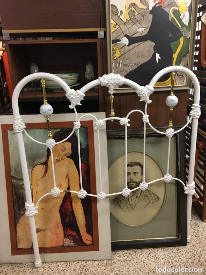 Antigüedades: Respaldo cabecero de cama diseño exclusivo PEÑA VARGAS desde 1931 - Foto 6 - 145097137
