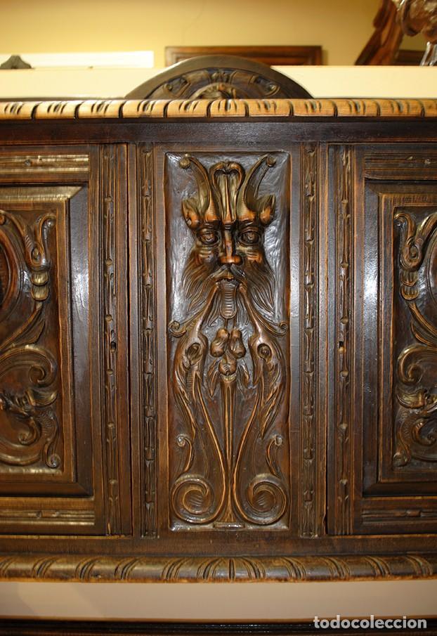 Antigüedades: COMEDOR ANTIGUO TALLADO ESTILO RENACIMIENTO ESPAÑOL - Foto 11 - 139304714