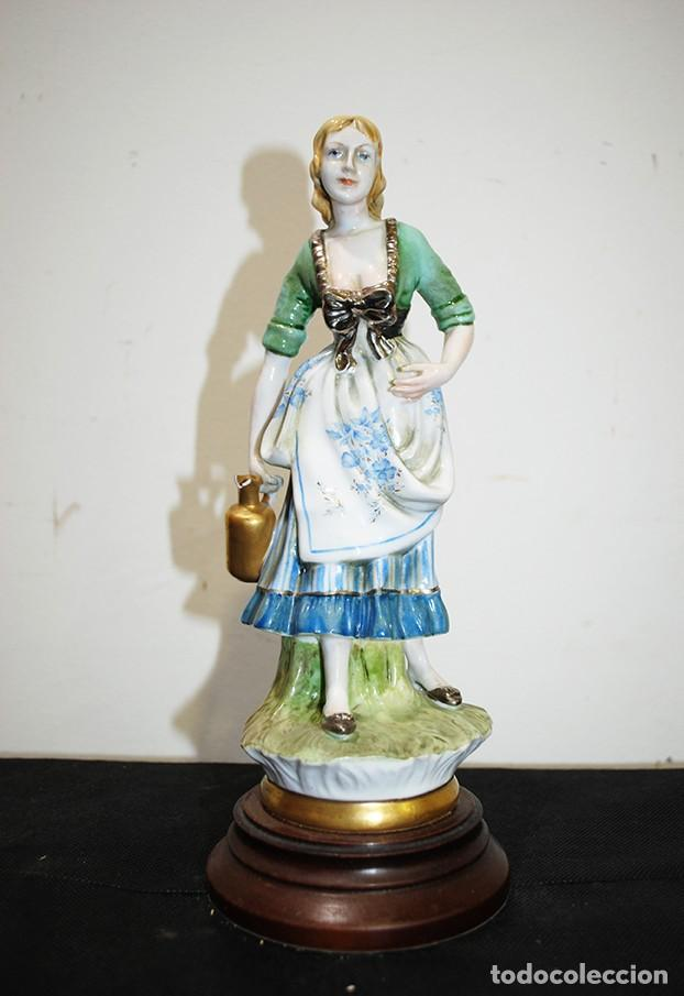 Antigüedades: FIGURA ANTIGUA DAMA PORCELANA - Foto 2 - 139305946