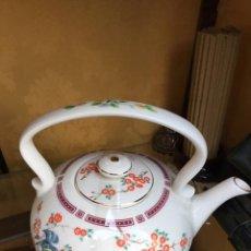 Antigüedades: TETERA O CAFETERA PORCELANA ROYAL KENT DIBUJO FLORECILLAS MARMITA. Lote 139317254