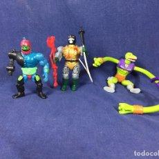 Figuras Masters del Universo: MASTERS UNIVERSO LOTE TRAP JAW SSSQUEEZE BLAST-ATTAK ACCESORIOS. Lote 139322962