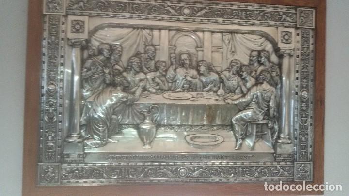 CUADRO ÚLTIMA CENA (Antigüedades - Religiosas - Orfebrería Antigua)