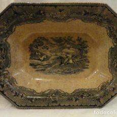 Antigüedades: ANTIGUA ENSALADERA CARTAGENA,SELLO INCISO Y TINTA,SXIX. Lote 139336654