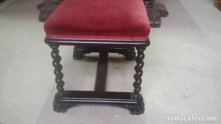 Antigüedades: Juego de dos sillones y banqueta reposapies - Foto 4 - 139345026
