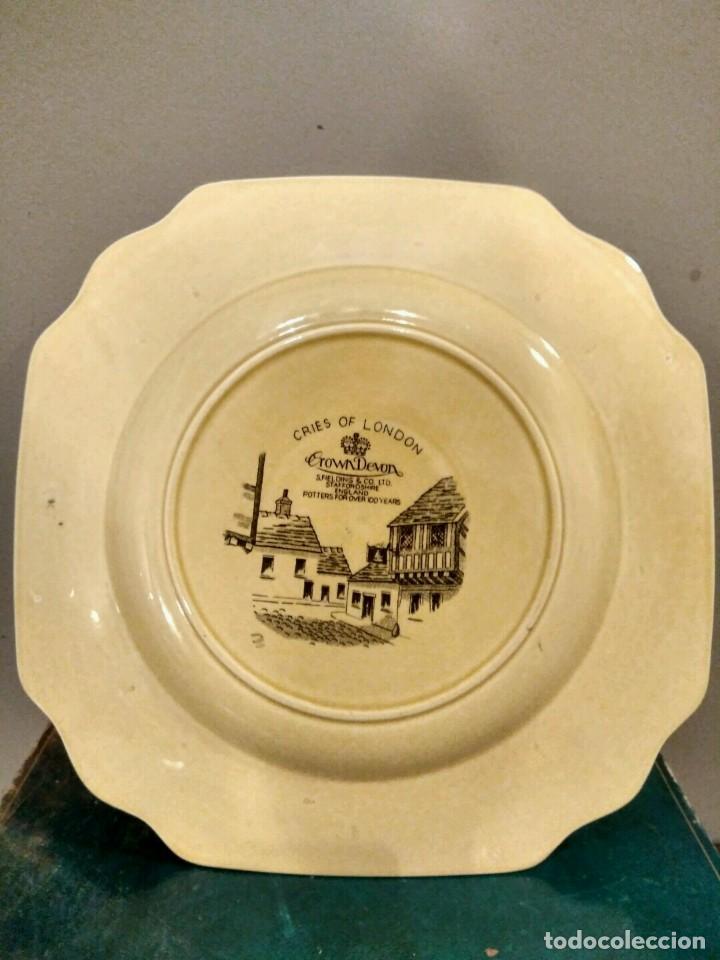 Antigüedades: Crown Devon Cries Of London Cabinet Plate Matches - DIFICIL PLATO PORCELANA INGLESA - Foto 3 - 139356654