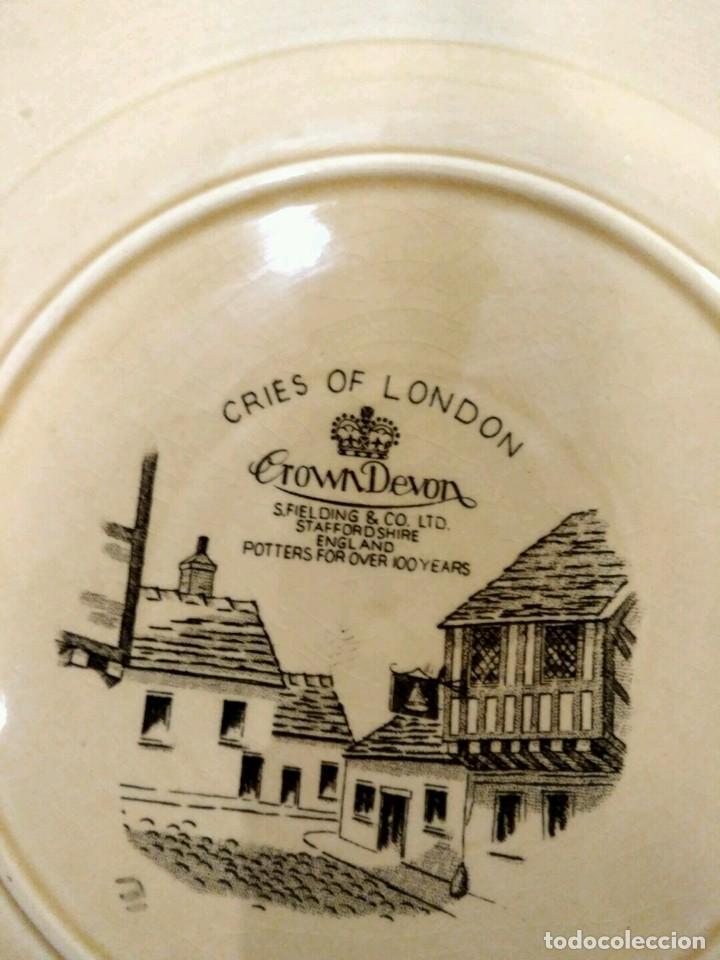 Antigüedades: Crown Devon Cries Of London Cabinet Plate Matches - DIFICIL PLATO PORCELANA INGLESA - Foto 4 - 139356654