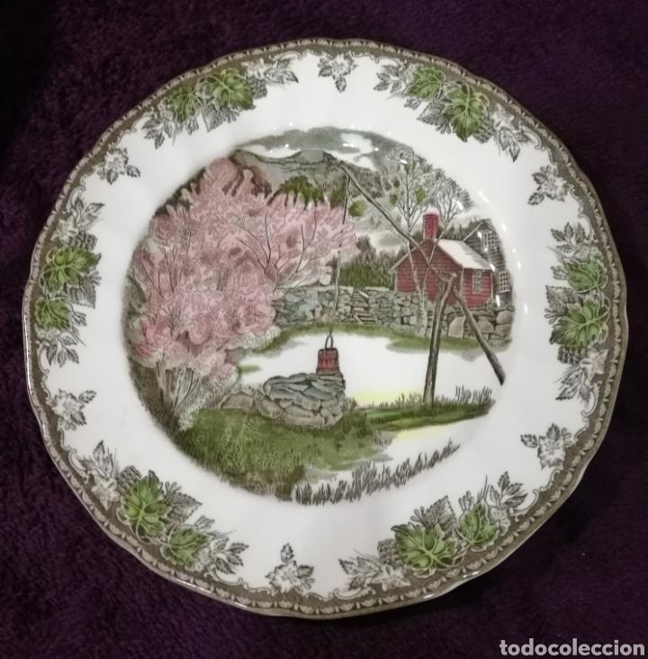 PLATO DE CERÁMICA INGLESA (Antigüedades - Porcelanas y Cerámicas - Inglesa, Bristol y Otros)
