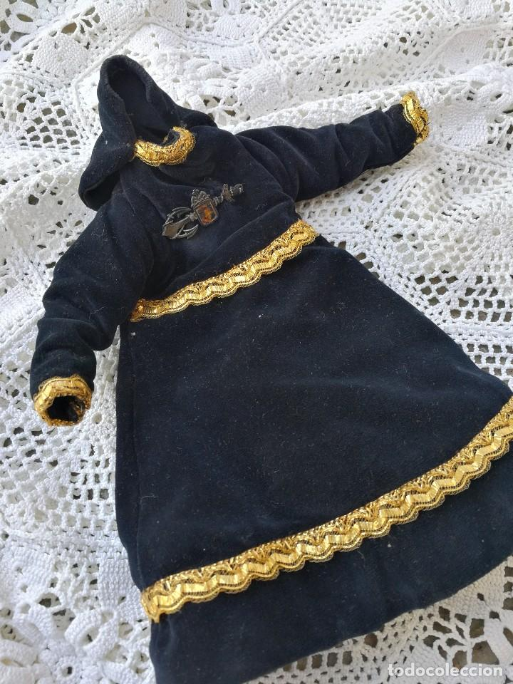 Antigüedades: ANTIGUA SAYA ROPA PARA IMAGEN DE 32CM. VIRGEN DOLOROSA CAP I POTA- HILO DE ORO.- S.XIX. - Foto 4 - 139363846