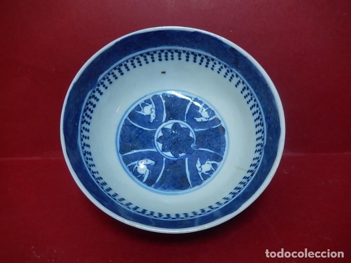 Antigüedades: Pareja de cuencos chinos, porcelana de Cantón. Siglo XIX. - Foto 9 - 139371370