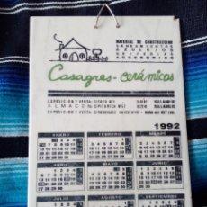 Antigüedades: AZULEJO,CALENDARIO,CASAGRES CERAMICAS.VALLADOLID.1992.ALAPLANA .VILLARREAL.. Lote 139386338
