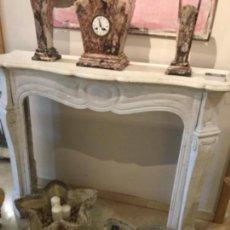 Antigüedades: ANTIGUA CHIMENEA MARMOL DE CARRARA BLANCO.. Lote 139390906