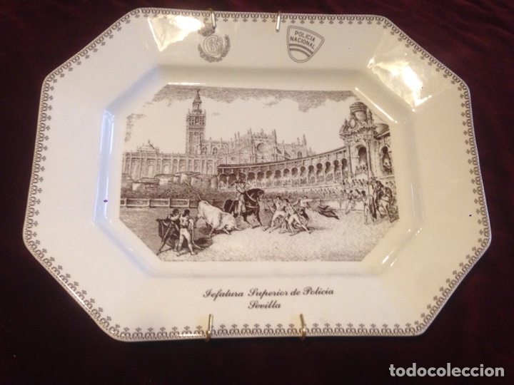 BANDEJA CERÁMICA LA CARTUJA,PICKMAN (Antigüedades - Porcelanas y Cerámicas - La Cartuja Pickman)