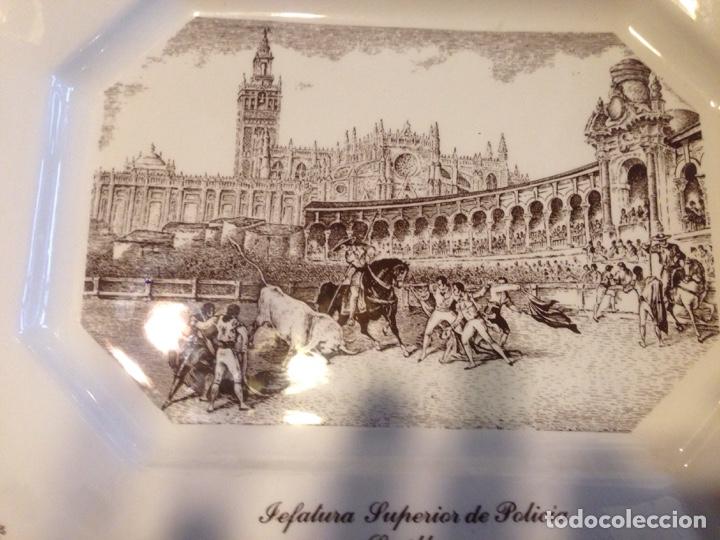 Antigüedades: Bandeja cerámica la cartuja,pickman - Foto 2 - 139397076