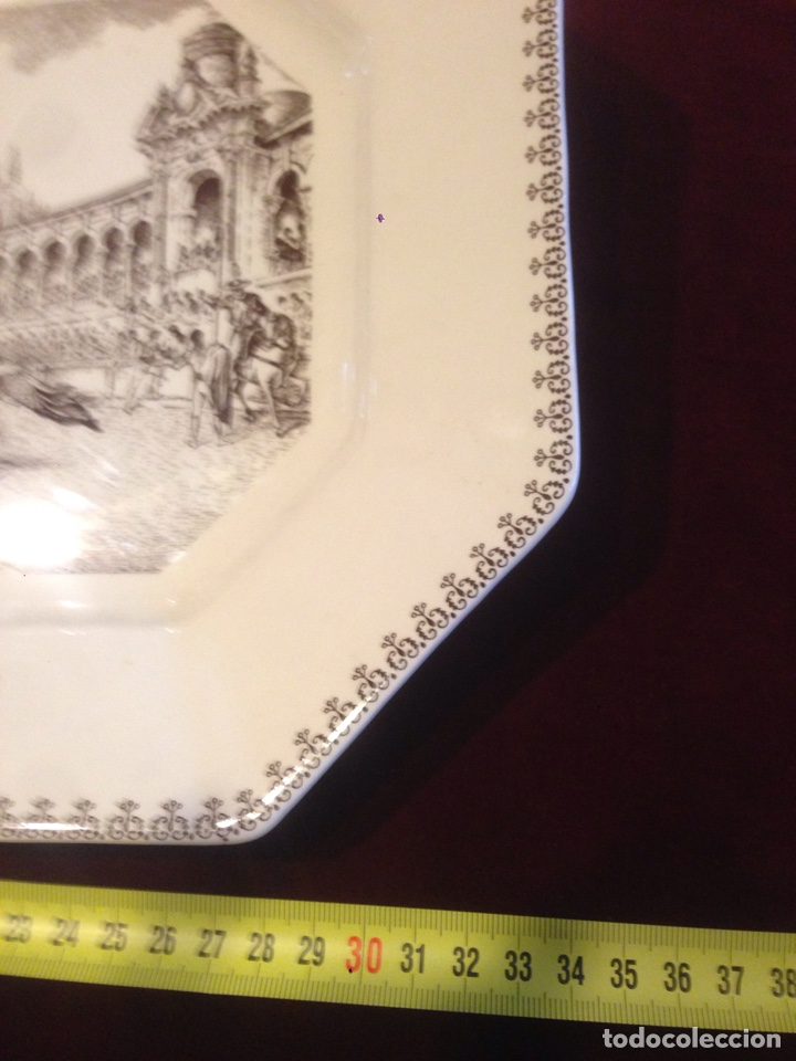 Antigüedades: Bandeja cerámica la cartuja,pickman - Foto 5 - 139397076