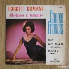 Discos de vinilo: RARE EP CONNIE FRANCIS FORGET DOMANI OLVIDEMOS EL MAÑANA BRENDA LEE LESLEY GORE DORIS DAY KAY STARR. Lote 139417046