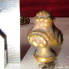 Antigüedades: PUNTA FINAL REMATE EMBELLECEDOR BRONCE ANTIGUO IDEAL RESTAURACION LAMPARAS ANTIGUAS . Lote 139417874