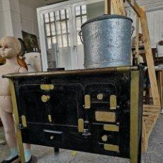 Antigüedades: ANTIGUA COCINA DE LEÑA 80X80X50CM. Lote 139420877