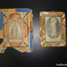 Antigüedades: 2 ANTIGUO REGISTRO RELIGIOSO. Lote 139424438