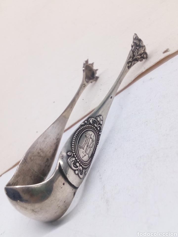 PINZAS DE HIELO PLATA DE LEY ANTIGUA (Antigüedades - Platería - Plata de Ley Antigua)