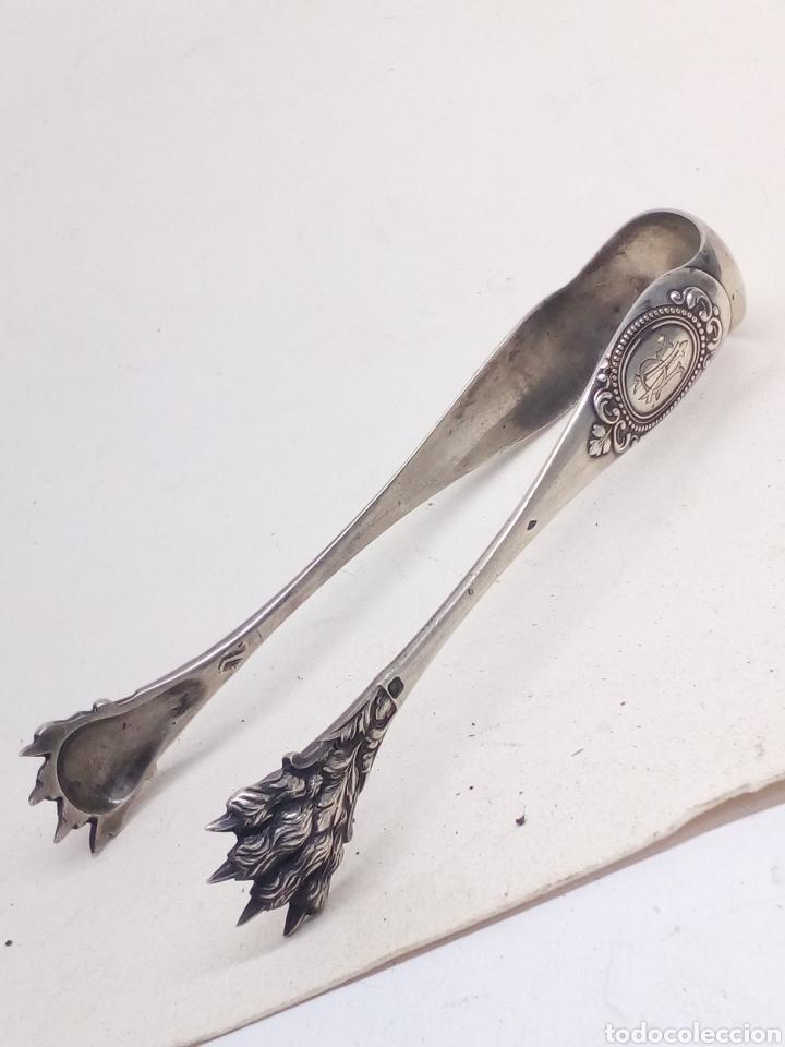 Antigüedades: Pinzas de hielo plata de ley antigua - Foto 2 - 139435516