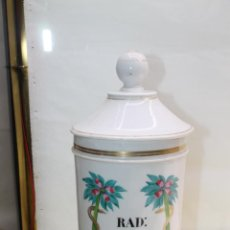 Antigüedades: ALBARELO - BOTE DE FARMACIA S. XIX PORCELANA DE LIMOGES. MEDIDAS 26 X 14 CM.. Lote 139437250