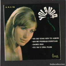 Discos de vinilo: YOLANDA: RARISIMO EP- BEATLES-IMPOSIBLE DE ENCONTAR- YE YE SINGER-ESPAÑA 1967. Lote 139437674