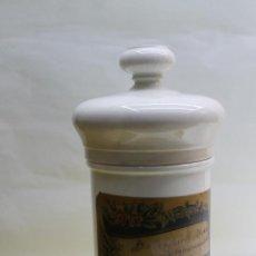 Antigüedades: ALBARELO - BOTE DE FARMACIA S. XIX PORCELANA DE LIMOGES. . Lote 139440022