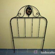 Antigüedades: CAMA CABEZAL DE HIERRO INDIVIDUAL. Lote 139444018