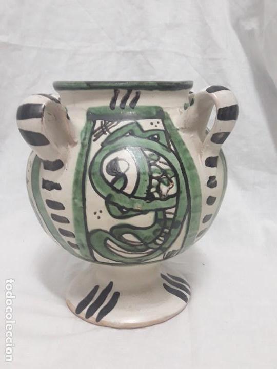 Antigüedades: Antiguo jarro con 4 asas de Domingo Punter Teruel - Foto 2 - 139475842