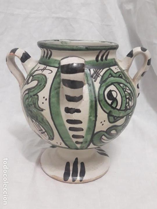 Antigüedades: Antiguo jarro con 4 asas de Domingo Punter Teruel - Foto 3 - 139475842
