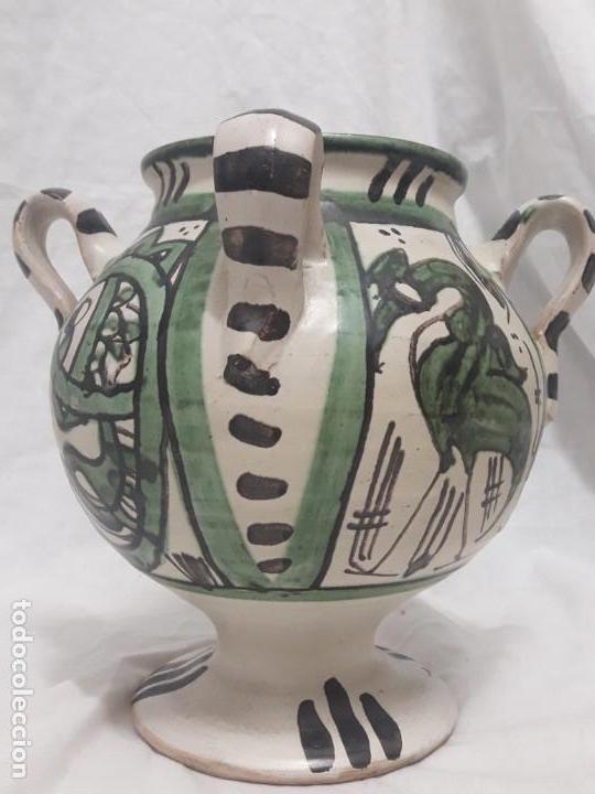 Antigüedades: Antiguo jarro con 4 asas de Domingo Punter Teruel - Foto 7 - 139475842