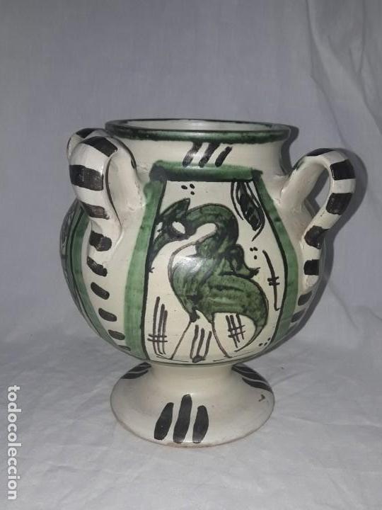 ANTIGUO JARRO CON 4 ASAS DE DOMINGO PUNTER TERUEL (Antigüedades - Porcelanas y Cerámicas - Teruel)