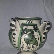 Antigüedades: ANTIGUO JARRO CON 4 ASAS DE DOMINGO PUNTER TERUEL. Lote 139475842