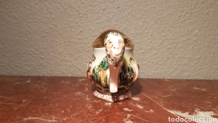Antigüedades: JARRA CAPODIMONTE CON SELLO EN BASE NUMERADA - Foto 4 - 139480834