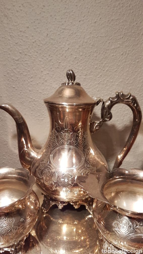 Antigüedades: JUEGO DE CAFE DE ALPACA / METAL PLATEADO. - Foto 4 - 139483313