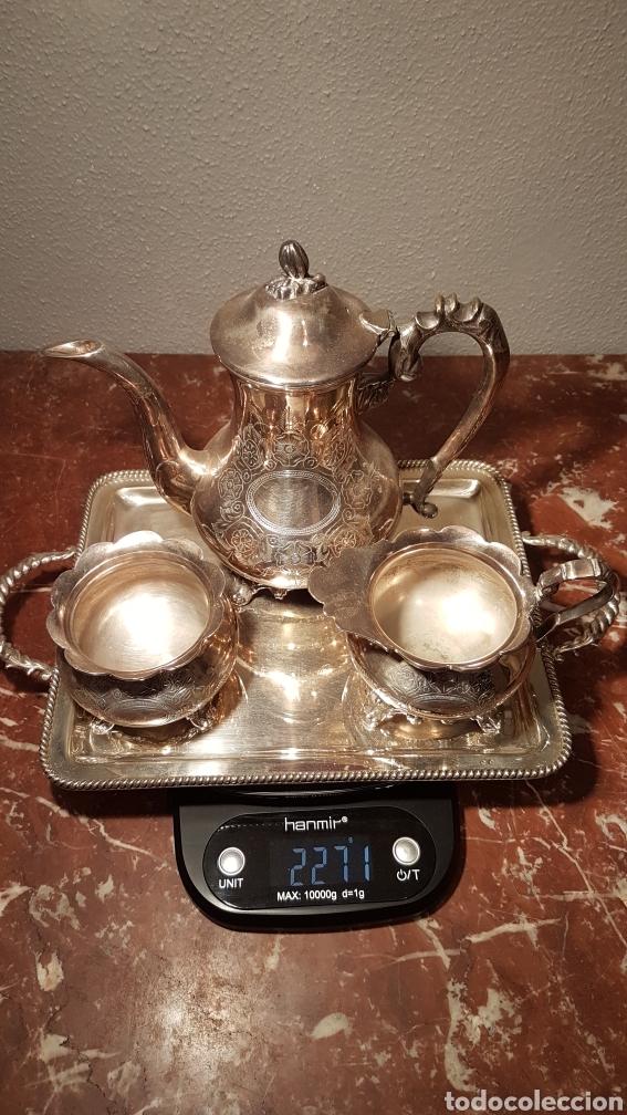 Antigüedades: JUEGO DE CAFE DE ALPACA / METAL PLATEADO. - Foto 8 - 139483313