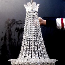 Antigüedades: LAMPARA VIP ANTIGUA 165CM CRISTAL DE BACCARAT ESTILO SACO IMPERIO 1940 GRAN HOTEL. Lote 75745743